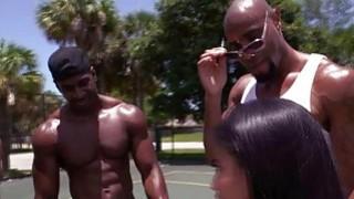 Image: Big ass latina Michelle Martinez and 3 black big cocks