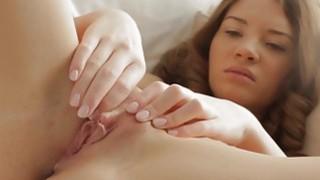 Hot chick masturbates in an erotic art film image