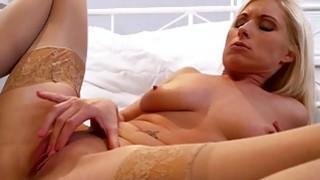 Image: Beautiful MILF masturbating in stockings
