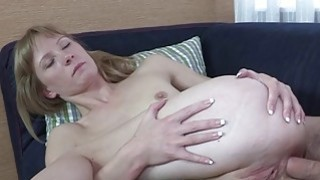 Hot blonde xxx cutie gets crammed in the tail image
