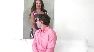 Image: Cali Sparks and stepmom Yasmin Scott stroked and sucked one cock