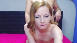 Sexy Blonde Teen Strips and Got Banged Behind image