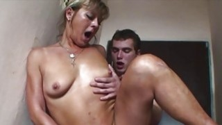Image: European Blonde Mature Double Teamed By Yung Cocks
