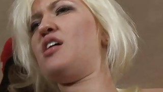 Nasty blonde bitch Whitney Grace dped by black dicks image