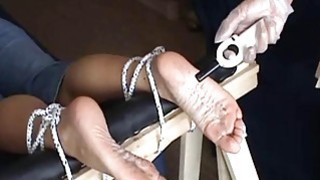 Extreme foot fetish and feet needle bdsm of mature image