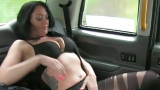 Busty escort fucks taxi driver for free image