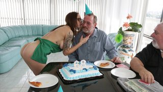 Lucky Dirty old man she would do anything for his birthday image
