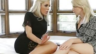 Stunning Blonde Pornstars Having Fun With Dildo image