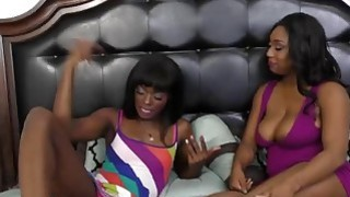 Image: Horny Ebony Lesbians Pleasuring Each Others Pussy