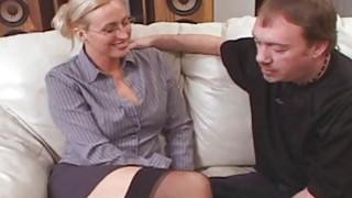 Tall Big Tit Teacher Joey Lynn Fucks_Porno Student image