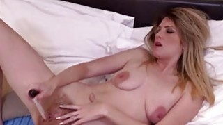 Small titted mature masturbating with dildo image