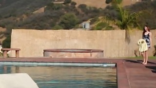 Image: Sexy Lesbian Nina_North Gets Fingerfucked In Pool