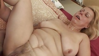 Saggy Breasted Blonde Mature Stepmom Anal Fucked image