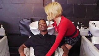 Wild blonde milf Krissy Lynn sucks black cocks image