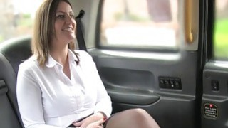 Fake taxi driver fucking big ass hottie in public image