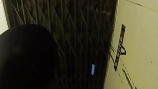Police officer fucks blonde in elevator image