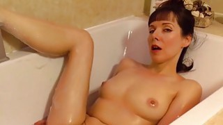 Beautiful mature masturbating in the bathroom image