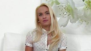 Image: Blonde waitress bangs big cock in casting