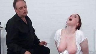 Image: Bizarre spanking and messy humiliation of enslaved