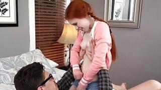 Horny tutor fucks with redhead teen Dolly image