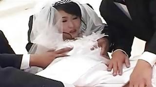 Image: Kinky Japanese bride gangbanged in cuckold orgy