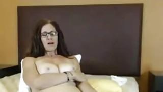 Image: Big Tit Milf toying hairy pussy