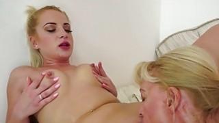 Teen Anastasia Blonde eats grannys pussy image