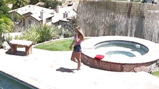 Spied busty teen banged at outdoor_pool image