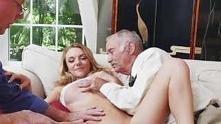 Molly Mae gives_Duke the hottest deep throat blowjob image