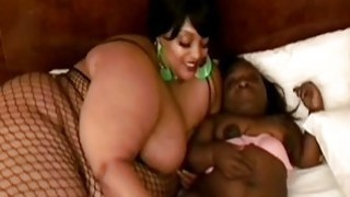 Image: Ebony BBW and midget having lesbian sex with favorite sex toy