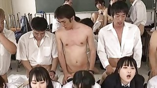 Jav Schoolgirl Gangbang Fucked Finger Squirted In_The Classroom A Dozen Cute Teens Outrageous image