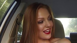 Attractive redhead Farrah Flower having awesome outdoor sex image