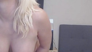 Image: Big Ass Busty Blonde Slut Fucks And Sucks Dildo
