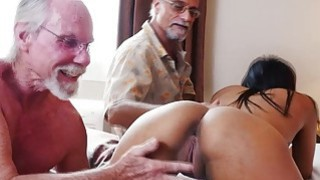 Nikki Kay fucks with a group of_horny old guys image