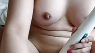 Real Amateur Teen Hitachi Insertion Masturbation Orgasm On Webcam image