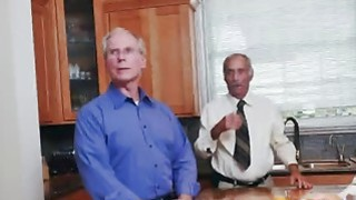 Amazing Blonde Teen Fucked By Old Guy On Couch image