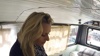 Fake cop anal bangs blonde in banging bus image