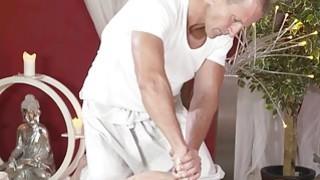 Short haired redhead sucks and fucks_masseurs cock image
