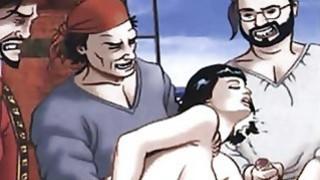 Peter Pan and Wendy hentai orgy image