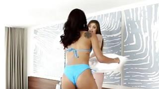 Gina Valentina and Kobi Brian having hot lesbian action image
