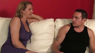 Blonde MILF Roxanne Hall Helps Young Slut Brooklyn JoLeigh Cum During Hard Three Way Sex image