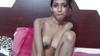 Image: Amateur Skinny Indian Desi Teen Sins By Showing Big Tits On Webcam