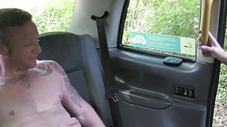 Nasty cab driver sucks and fucks muscled guy image