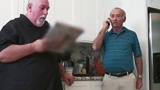 Horny Old Man Slips Hard_Dick Down Teenage Chick's Throat image