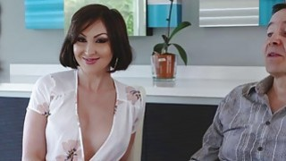 Hot Auntie Yasmin Scott suck her nephews cock image