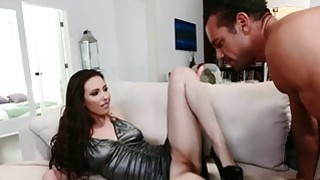 Image: Casey Calvert dripping wet_while indulging her foot fetish