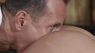 Masseur rims oiled naked brunette_babe image