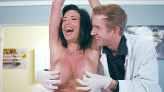 Veronica Avluv gets her tits and pussy examined by Dr. D image