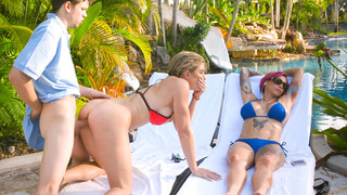 Anna Bell Peaks and Cory Chase having 3-way fuck during a vacation image