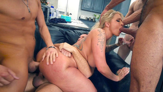 Ryan Conner gets gangbanged by her son's four friends image